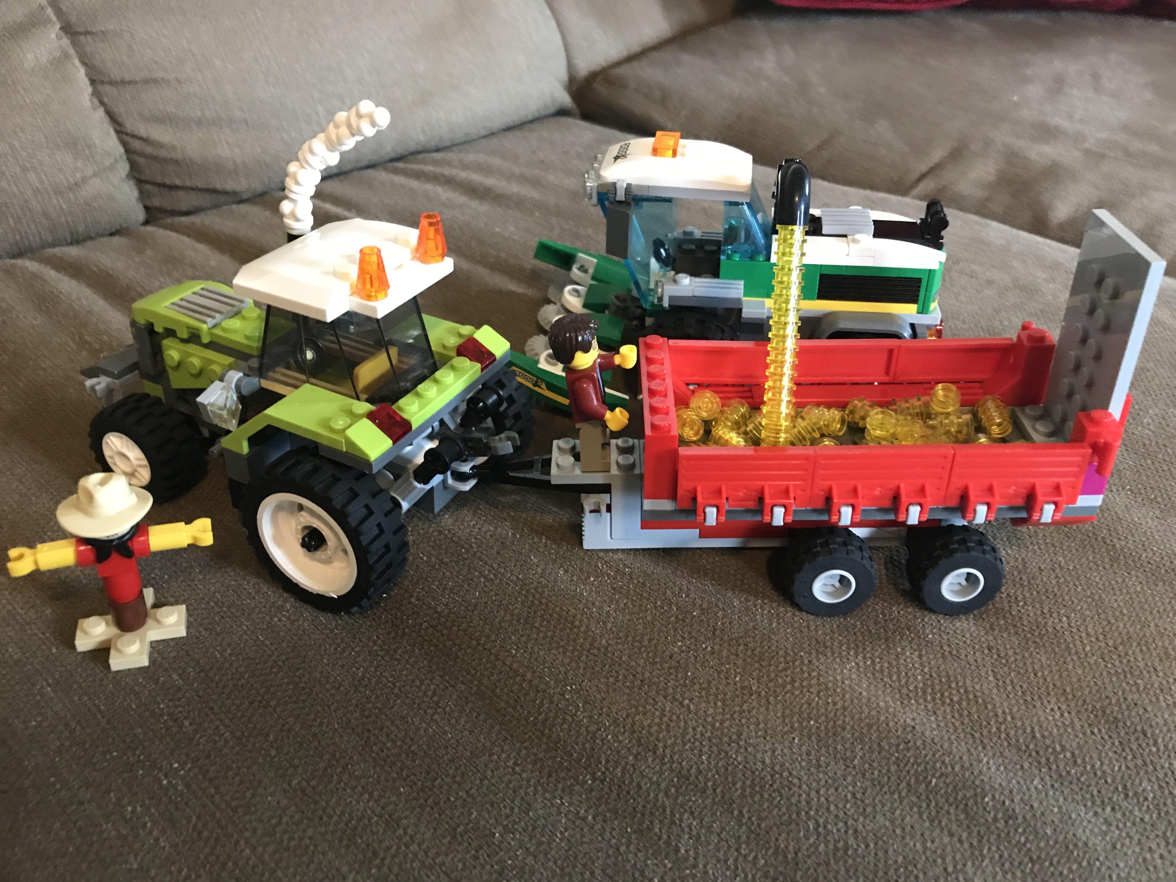INSTRUCTIONS for Custom Lego Combine Harvester I Town City Farm Tractor Model