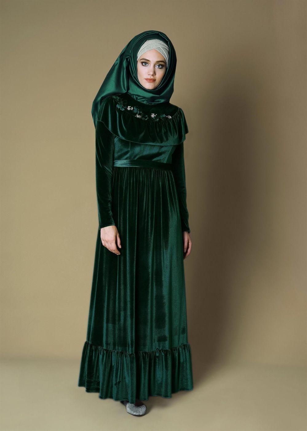 82eeac1029394 4722 NEW DESTİNY ELBİSE 36/42 - ZÜMRÜT Türban Kıyafetler, Niqab, Başörtüsü  Modası