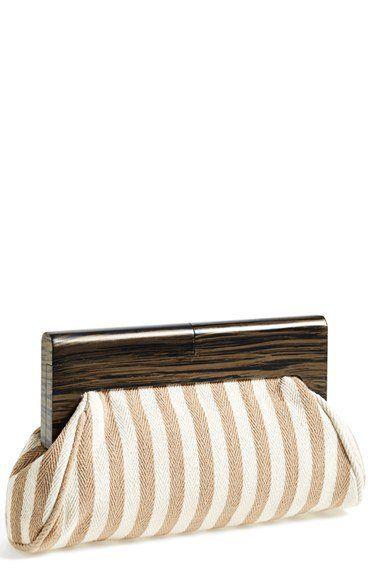 203f3239d1b6 Natasha Couture Wood Frame Clutch
