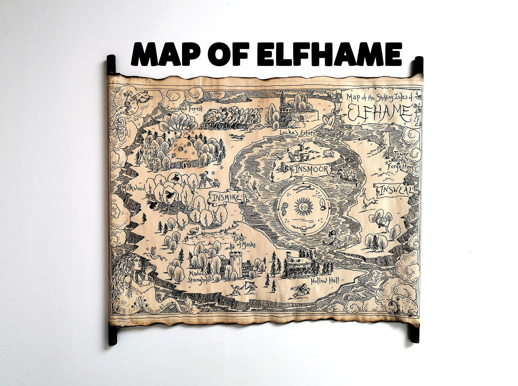 Pin On Map Of Elfhame The Cruel Prince Map