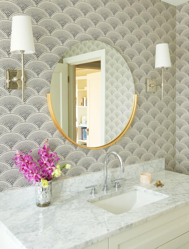 Modern Art Deco Bathroom Gold Wallpaper Bathroom Modern Bathroom Mirrors Art Deco Bathroom