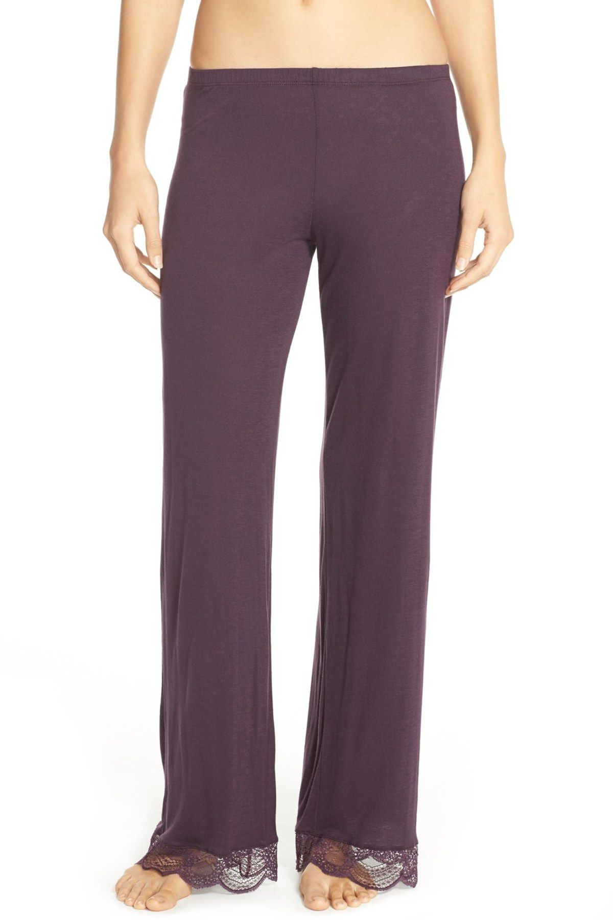 Lace Trim Lounge Pant