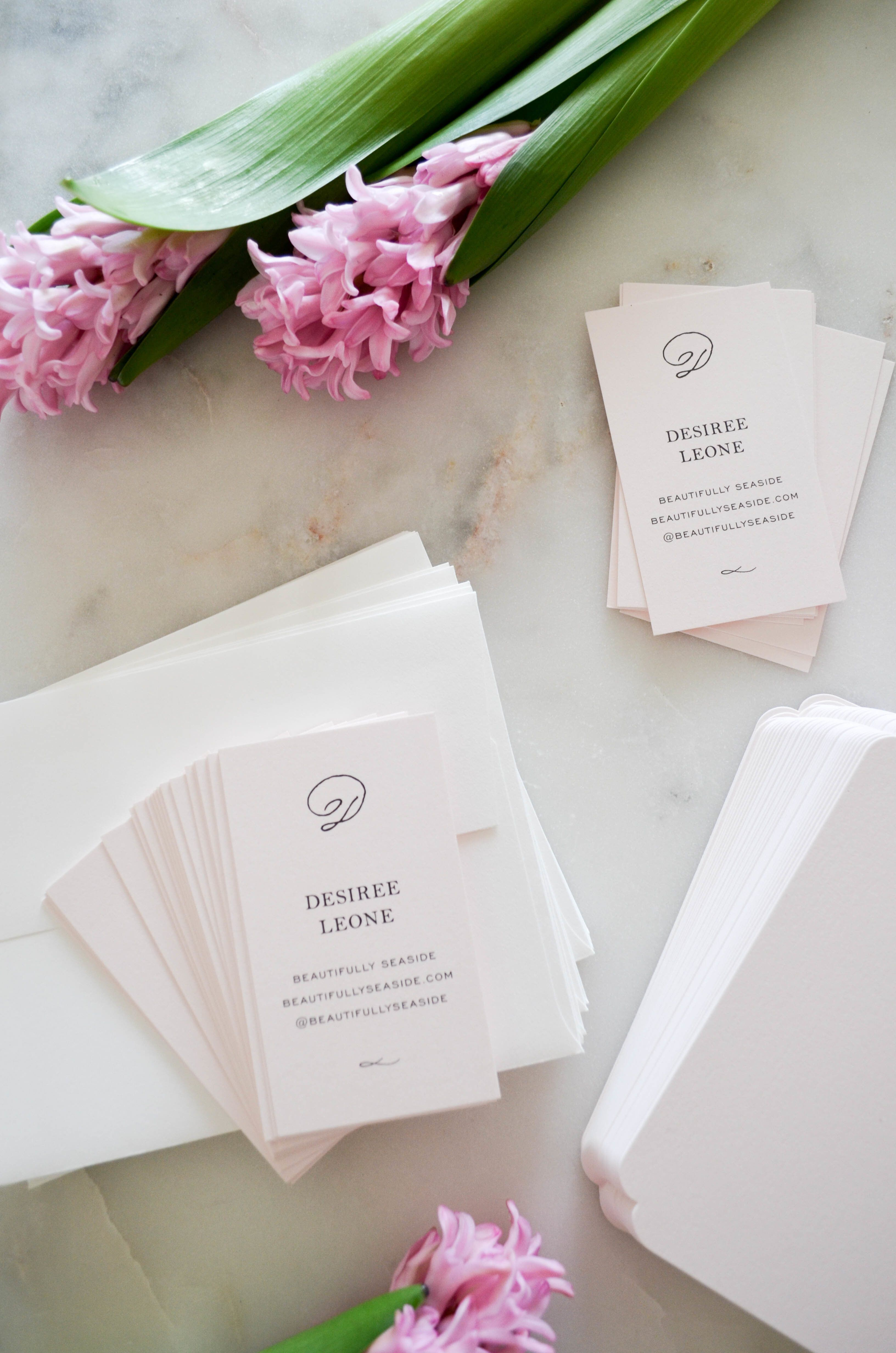 Beautifully Seaside\'s pretty business cards and stationery with ...