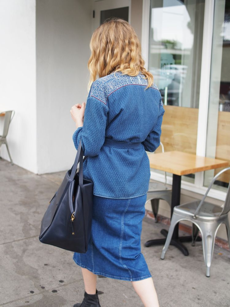 f56ab207da M.i.h Jeans Minas Indigo Jacket Madewell Denim Button-Front Midi Dress  Manufacture Pascal Kodara Ray-Ban Round Metal Frame Coclico Full Denim Look  x Taylr ...