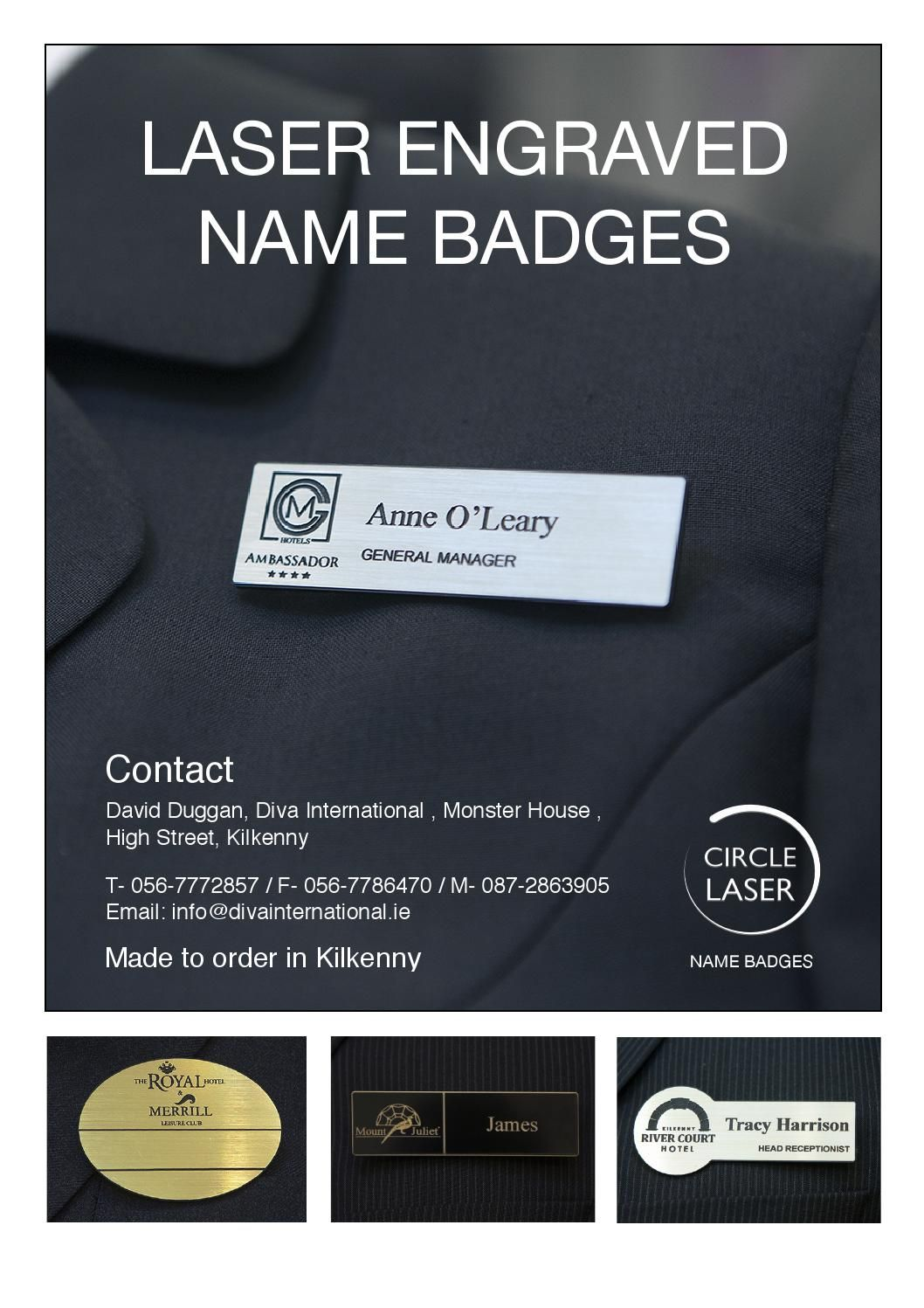 Laser engraved name badges based in kilkenny ireland we supply laser engraved name badges based in kilkenny ireland we supply bespoke name badges reheart Images