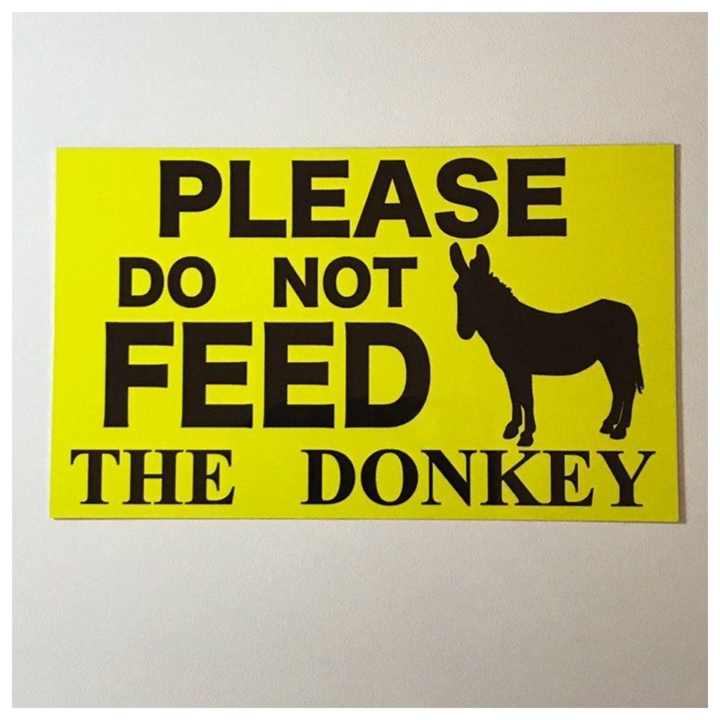 KEEP GATE CLOSED Donkey Aluminum Sign warning animal Donkey farmIndoor//Outdoo