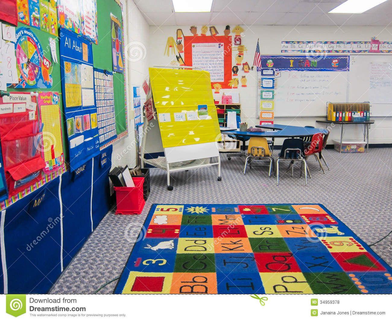 Kindergarten Classroom Interior Calendar Bulletin Board ...
