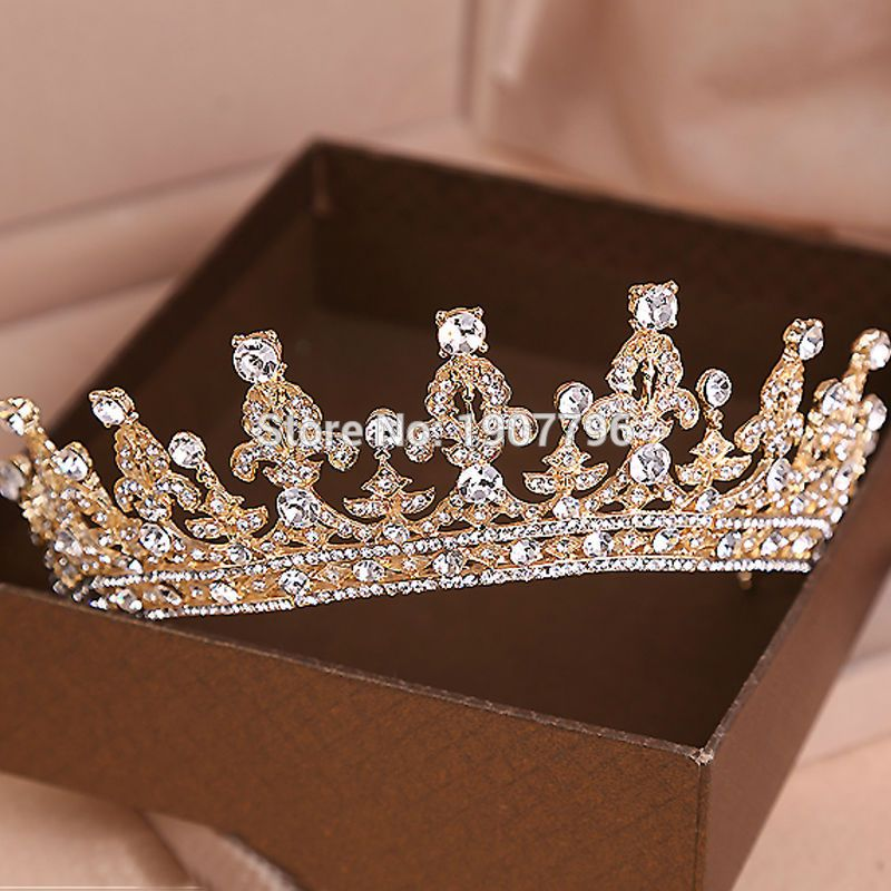Luxury Wedding Bridal Crystal Tiara Crowns Princess Queen Pageant Prom  Rhinestone Veil Tiara Headband Wedding Hair Accessory-in Hair Jewelry from  Jewelry on ... c9de291dec6f