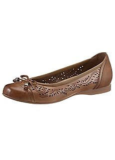 timeless design be8b4 85abe Nappa Leather Perforated Ballerinas by Jana | SHOES and ...