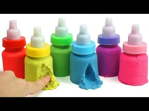 DIY Colors Slime Syringe Jelly Simple Cooking Learn Colors Slime Jelly Kinetic Sand - YouTube