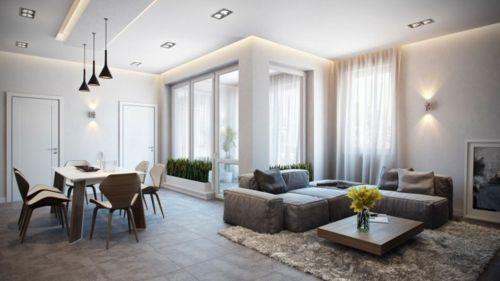 Elegant Modernes Apartment Mit Atemberaubender Inneneinrichtung Wohnzimmer