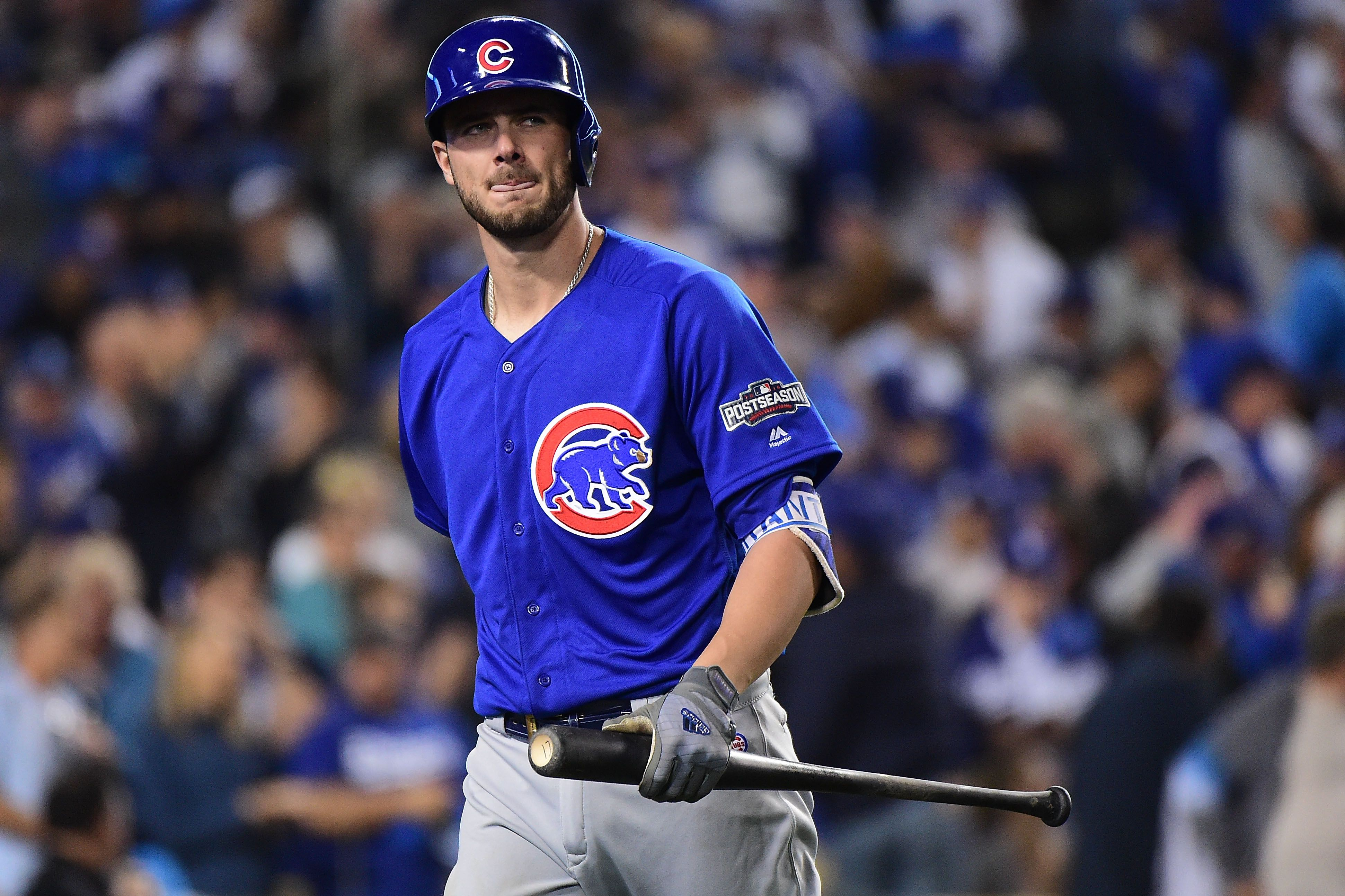 Kris Bryant's Face During The Last Out Of The World Series