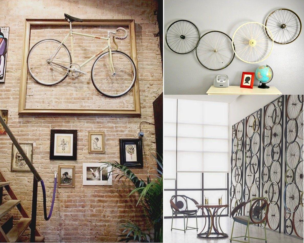 7 originales ideas para reciclar bicicletas | Decorar paredes ...