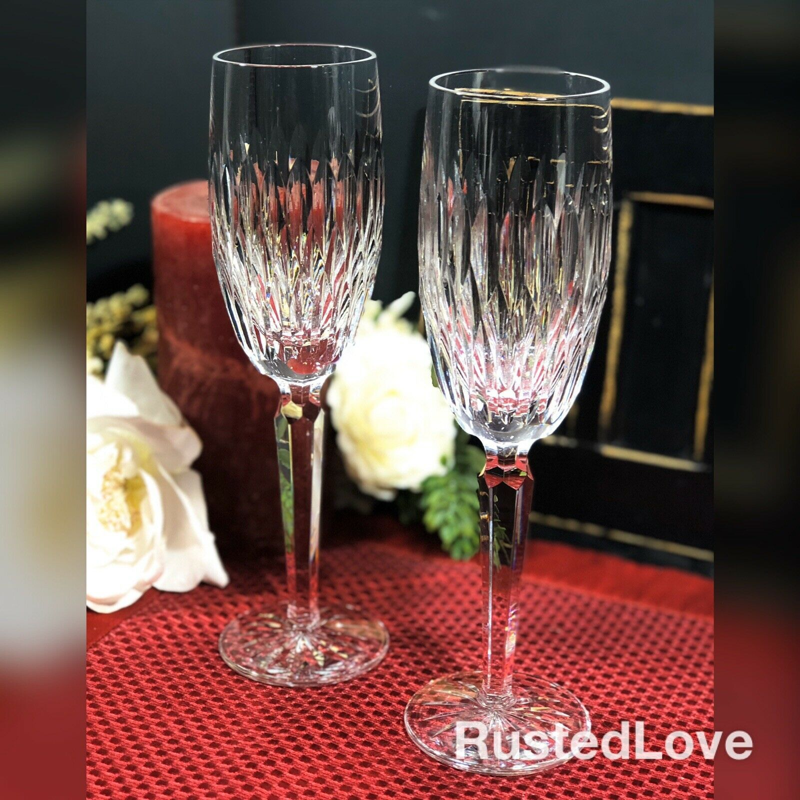 Waterford Rosemare Champagne Flutes Wedding Toasting Glasses Champagne Flutes Toasting Glasses