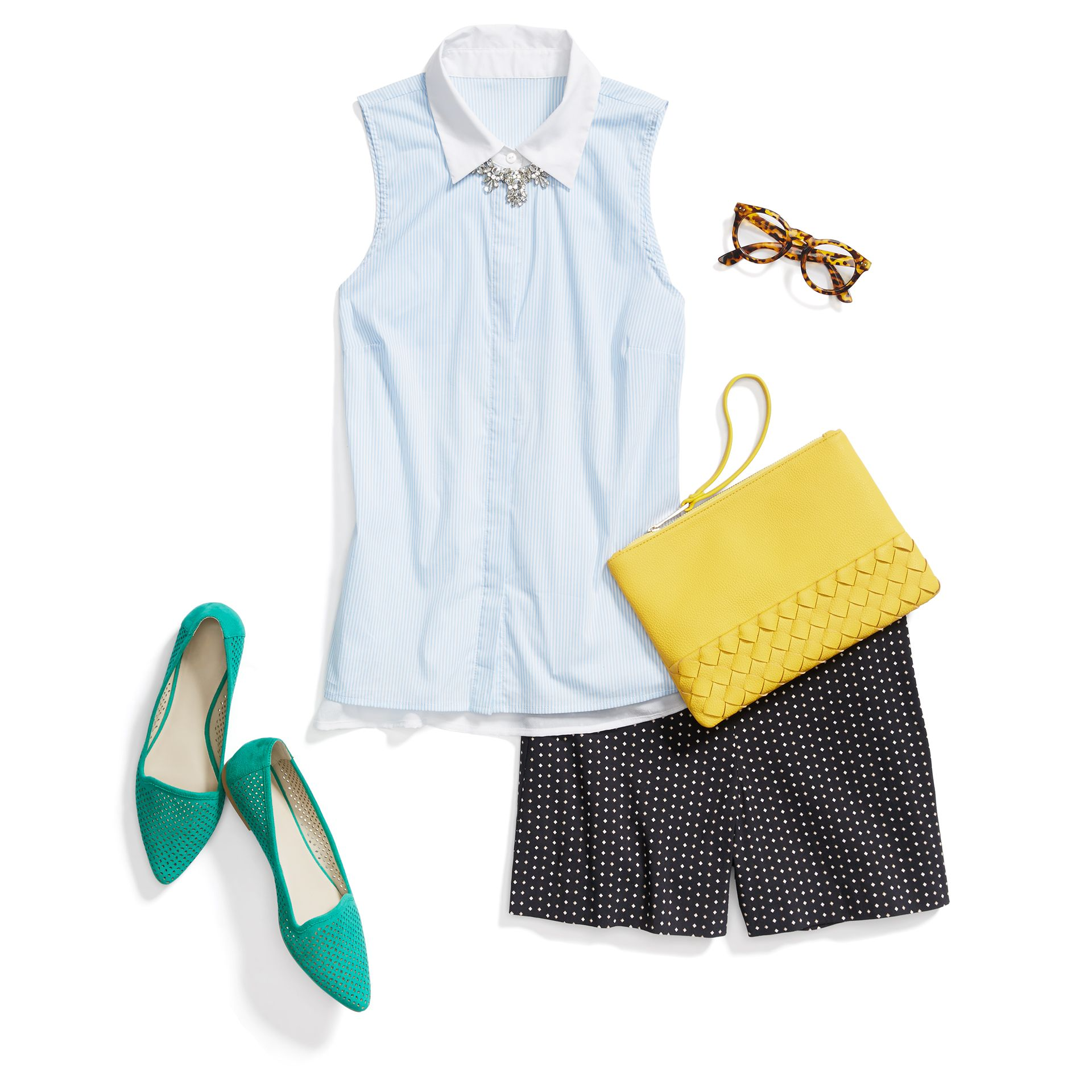 Ahhhh, sunshine. Show off your favorite features with leg-baring looks with bright pops of color.