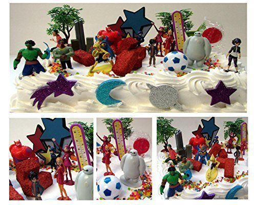 Big Hero 6 Birthday Cake Topper 26 Piece Set Featuring Hiro Hamada