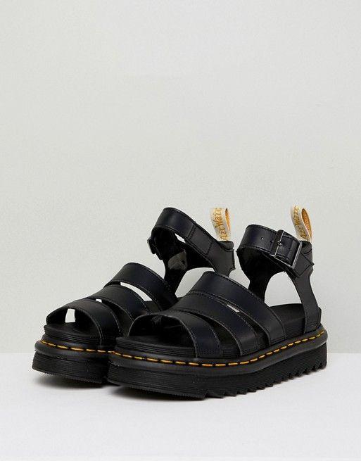 Dr Martens | Dr Martens Blaire Vegan Strappy Flat Sandals in