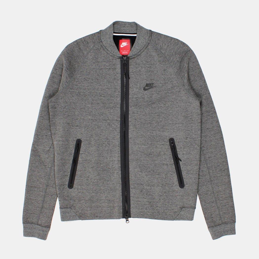 Men's fashion · Nike Tech Fleece Varsity Jacket - Tumbled Grey