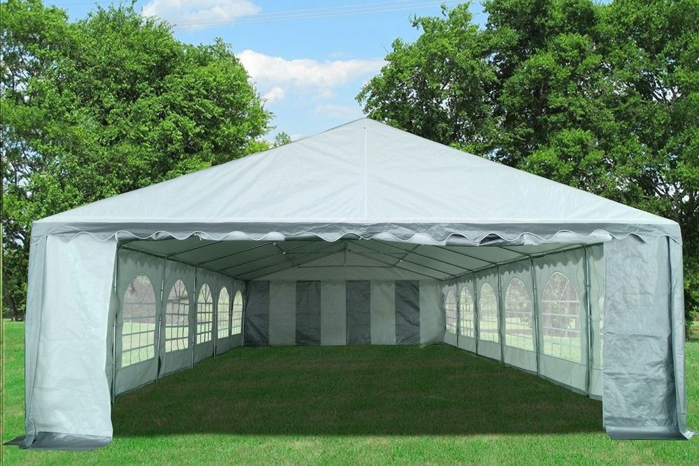 40 X20 Grey White Pe Party Tent Party Tent Wedding Canopy Event Tent