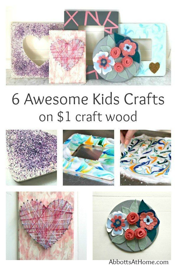 6 Easy And Cheap Kids Crafts On Wood Pinterest Crafts