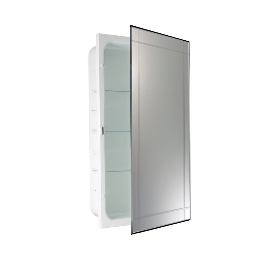 Allen Roth 16 In X 26 In Recessed White Mirrored Rectangle Medicine Cabinet Lowes Com Recessed Medicine Cabinet Recessed Medicine Cabinet Mirror Medicine Cabinet Mirror