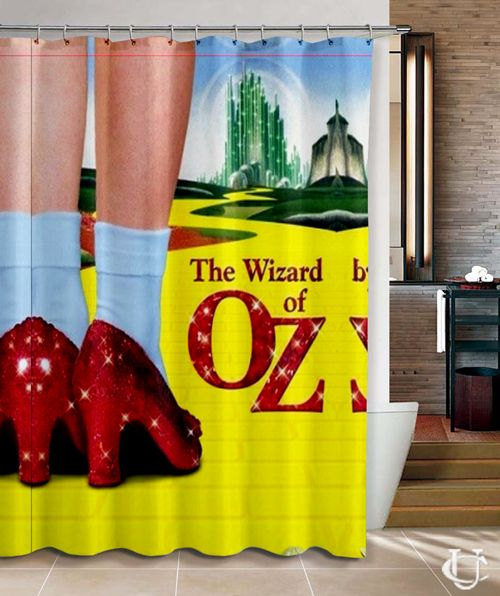 Cheap Wizard Of Oz Painting Art Custom Shower Curtain With Images