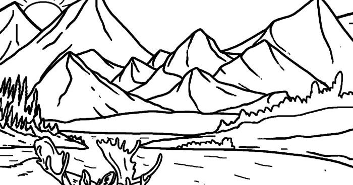 Lukisan Pemandangan Sawah Padi Hitam Putih Gambar Pemandangan Gunung Dan Sawah Hitam Putih Untuk Diwarnai 50 Gambar M Lukisan Bunga Matahari Lukisan Gambar