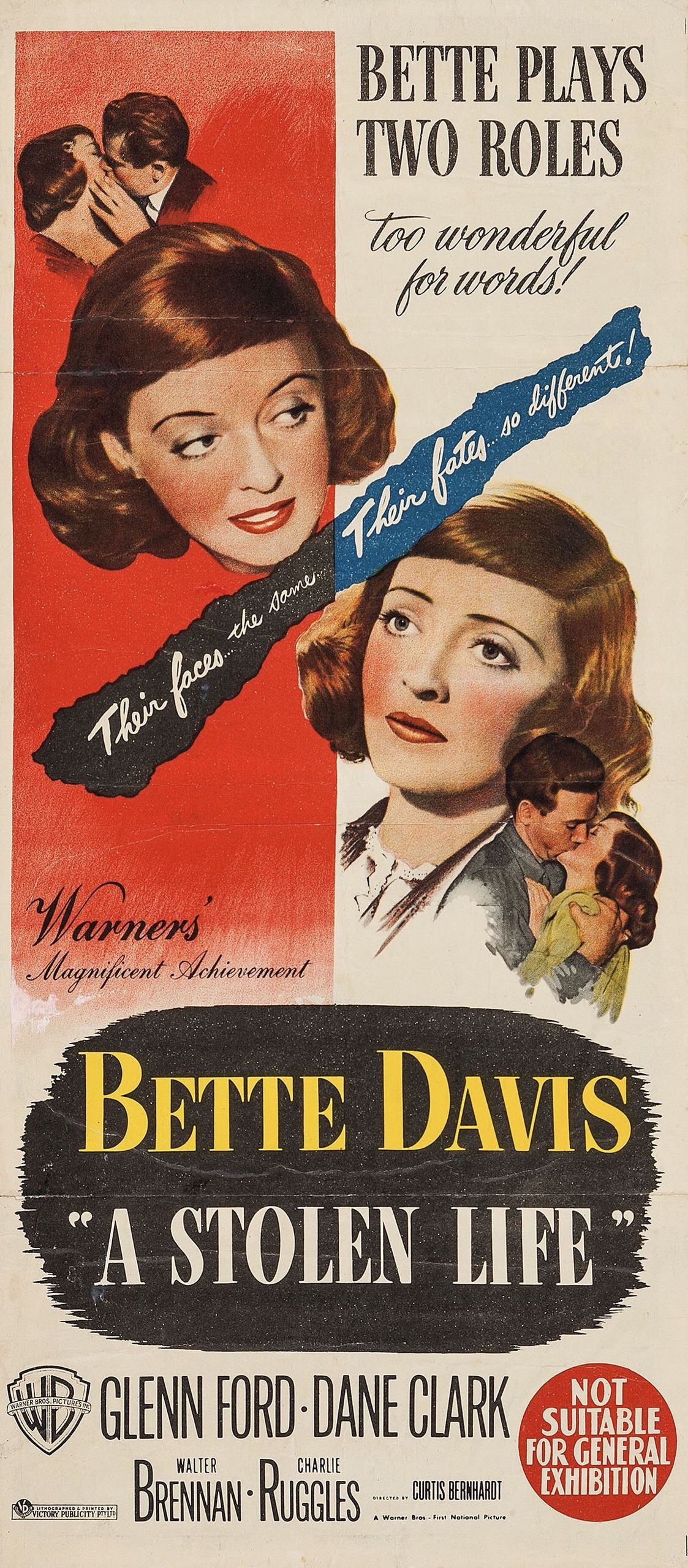 A stolen life Bette Davis Glenn Ford movie poster