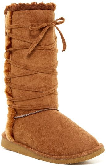 Bucco Ned Faux Fur Trim Boot