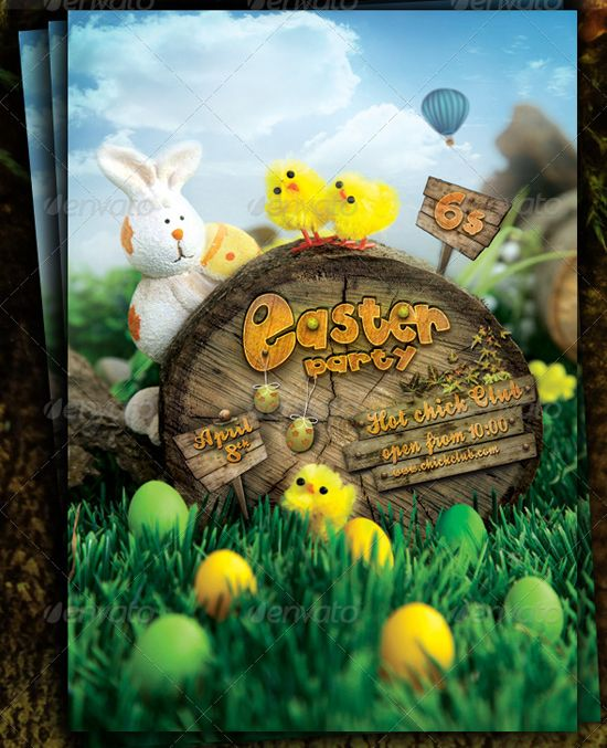 Easter Party - Flyer Template by CoolFlyersdeviantart on