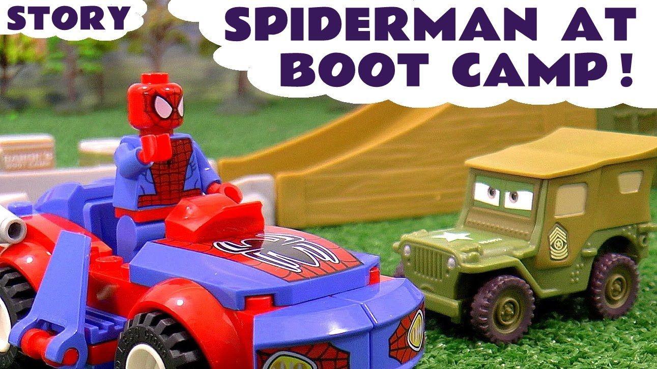 Spiderman at Disney Cars Toys Boot Camp Lego Spiderman vs