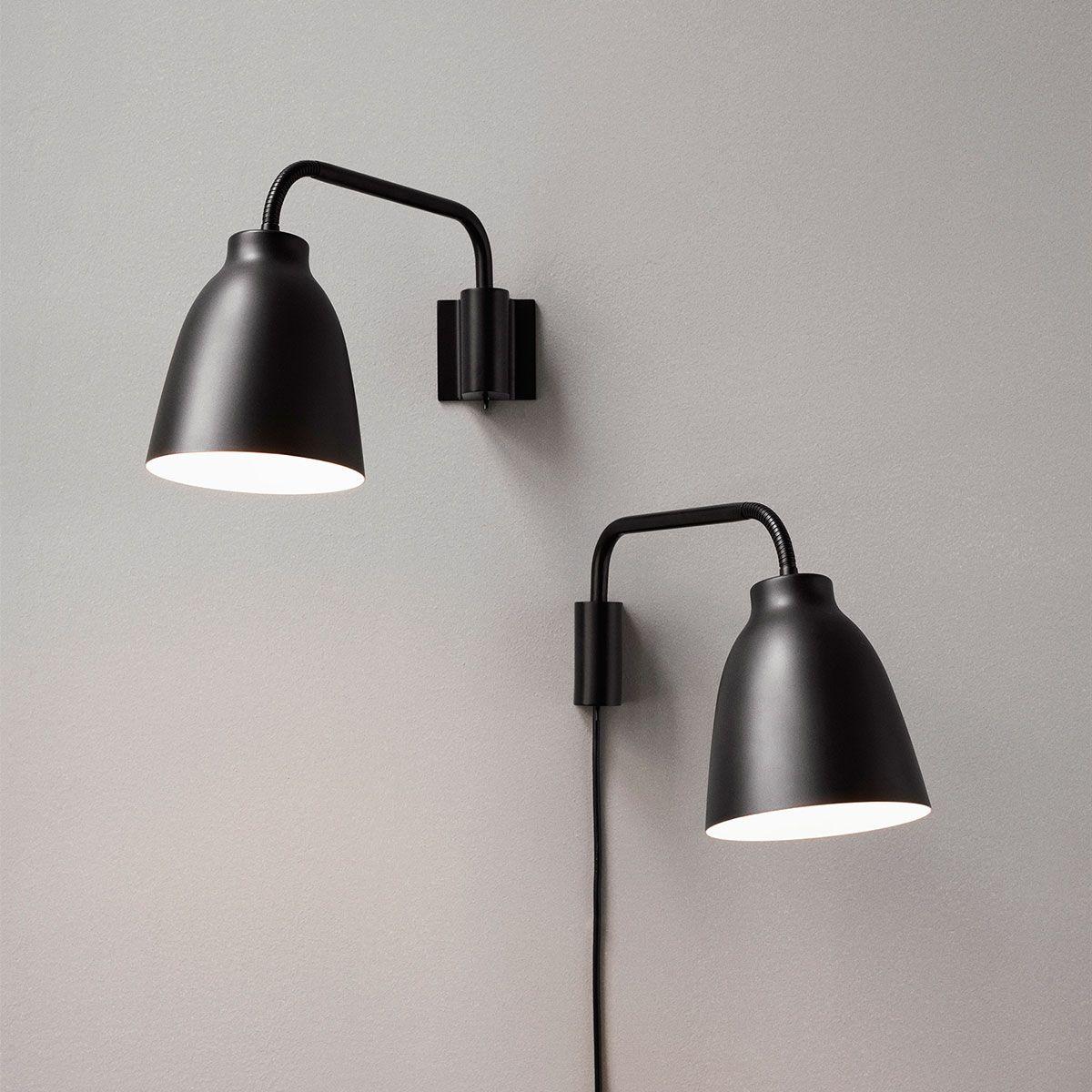 Lightyears Wandleuchte Caravaggio Schwarz Black Wall Lights Wall Lights Caravaggio
