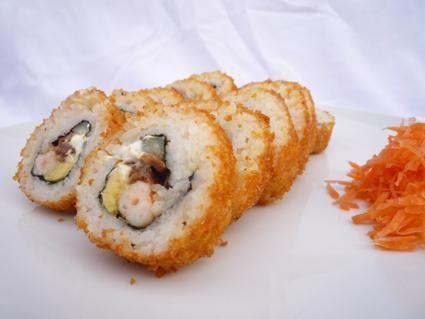 Sushi Philadelphia Empanizado Sushi Empanizado Receta Comida Japonesa Recetas Japonesas