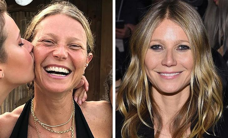 Photo of Celebrities with and without makeup – Gwyneth Paltrow