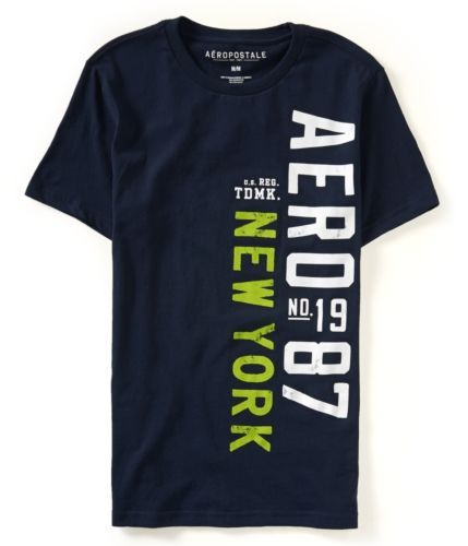 aeropostale mens vertical aero 87 graphic t shirt
