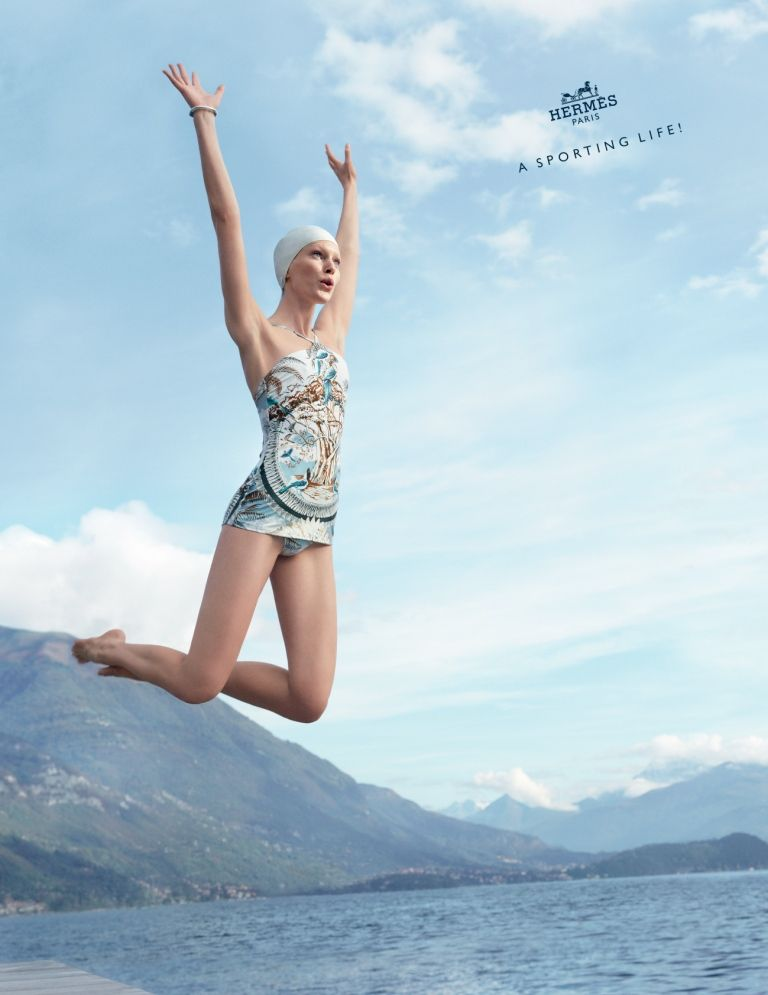 A sporting life! Hermès presents its spring-summer advertising campaign in the heart of Lake Como. #hermes #lakecomo #italy #fashion #sport