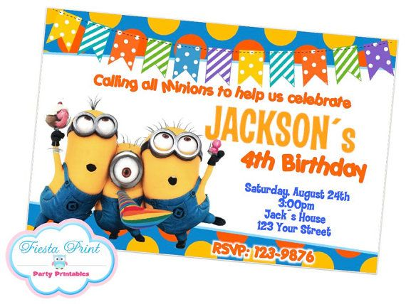 Despicable me minions invitation birthday party invitation digital despicable me minions invitation birthday party invitation digital on etsy 800 stopboris Images