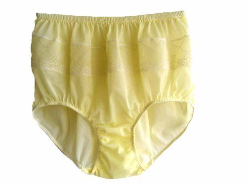 bab4e1aec18a31 Yellow Panties Floral Lacy Nylon Briefs Ladies Knickers Women Underwear  Size X-large Hip 36 - 42 by BRIEFS PANTIES. $10.00. Size XL WAIST 24  stretches to 36 ...
