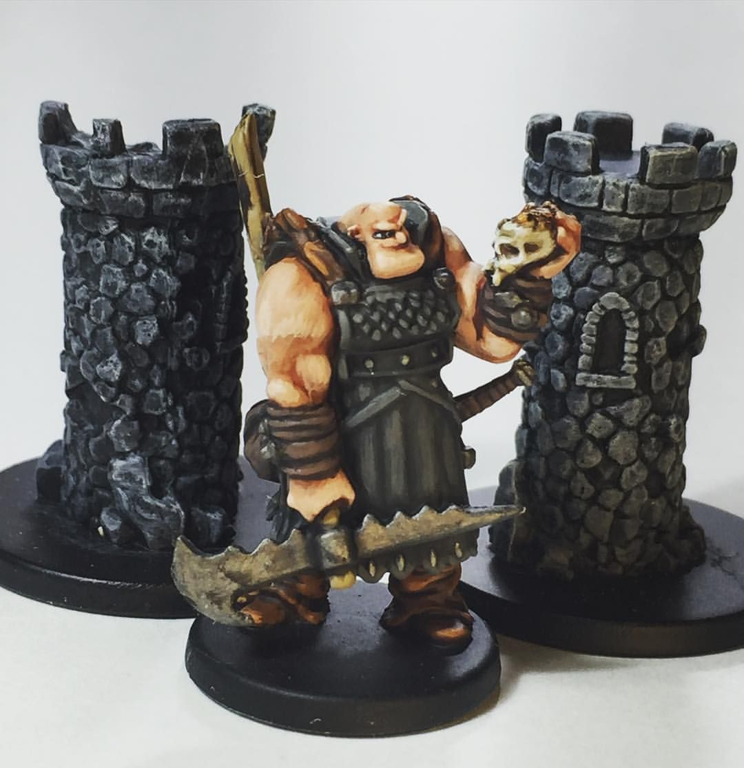 Orobox the Mercenary from B•Sieged. My son thinks the characters are kind of cartoony but I had fun with the Zombicide crossover cards. Orobox is a great Fatty smasher. #bsieged #coolminiornot #cmon #miniature #miniaturegaming #miniaturepainting #tabletop #tabletopgaming #tabletopboardgame #painting #paintjob #nerds #nerdstuff #nerdieness #zombicide #zombicideblackplague #crossovercards @magicalwookiee @naniroxsd @cmongames