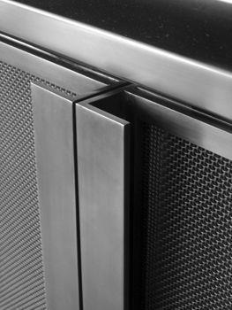 Hot Rolled Steel Perforated Cabinet Doors In 2020 Millwork Details Steel Furniture Metal Furniture