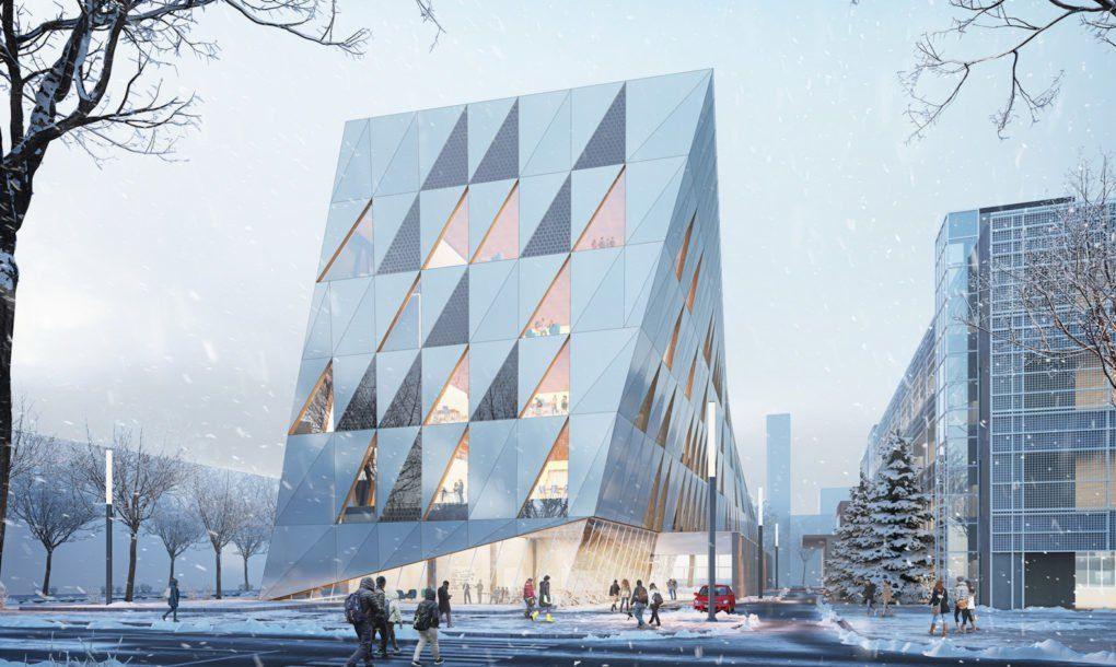 Perkins Will Designs Leed Gold Seeking Academic Building For York University Facade York University Facade Architecture