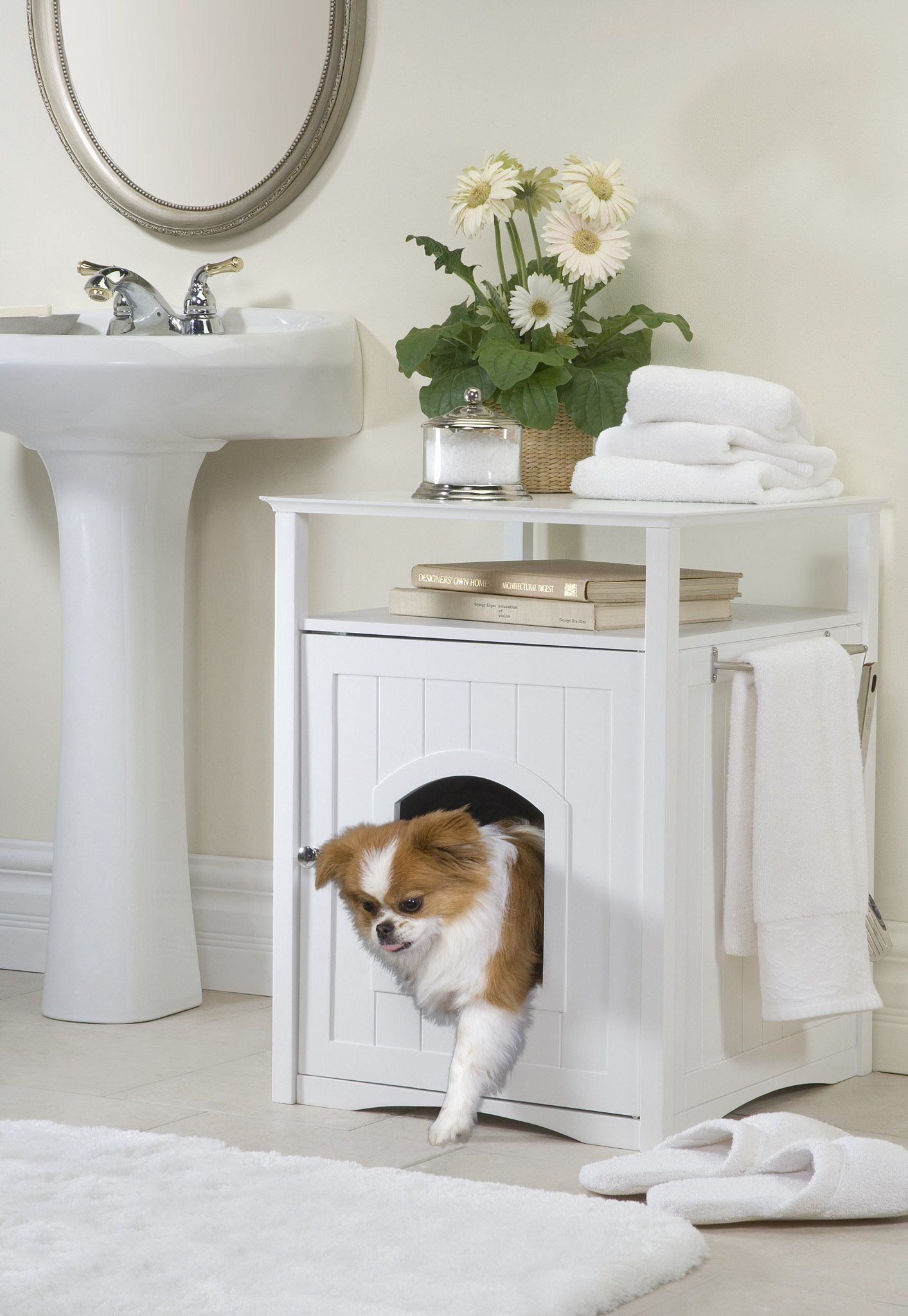 Hidden Dog House And End Table Litter Box Covers Dog House Diy