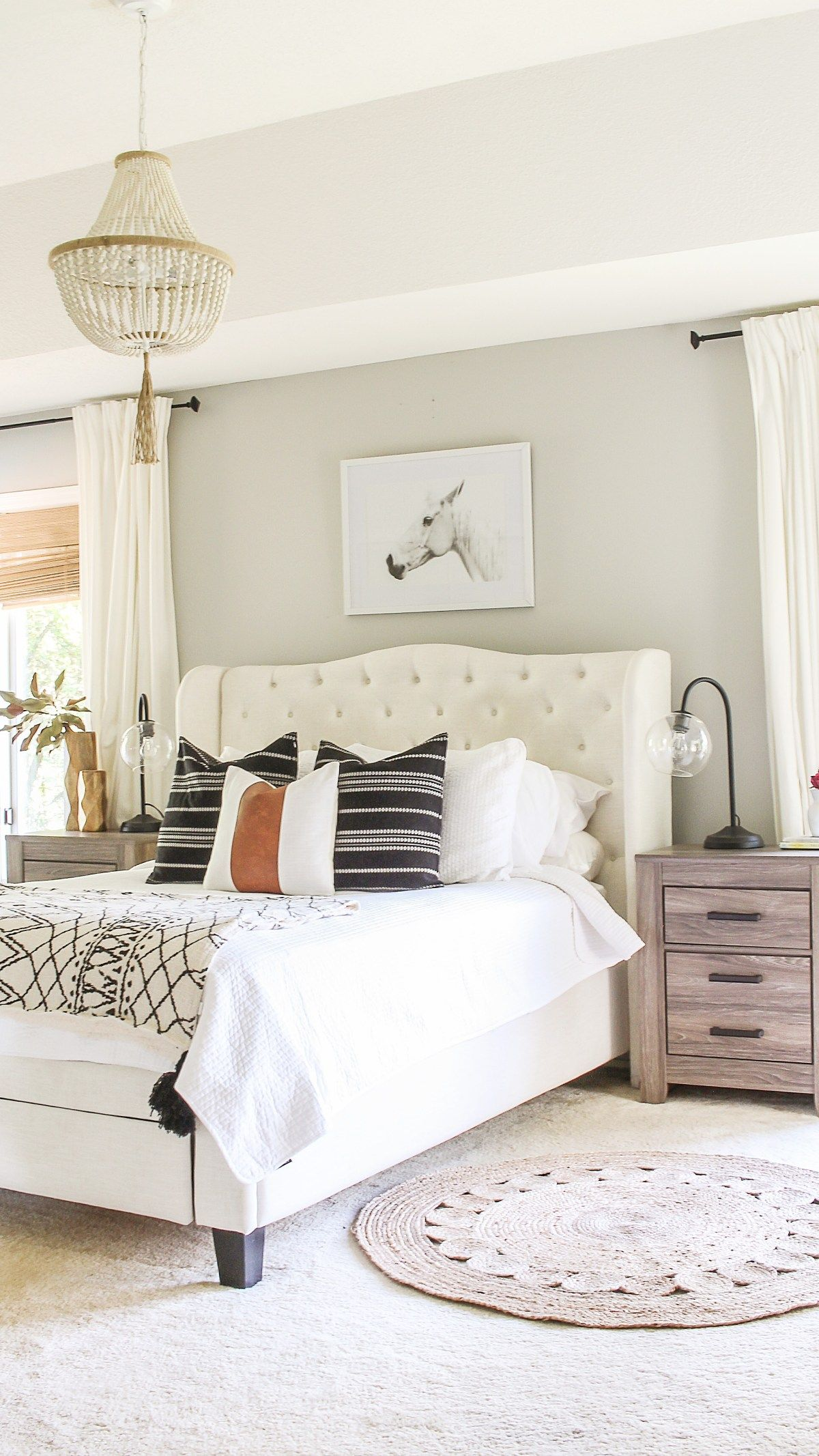 Modern Farmhouse Bedroom Refresh on a Budget | Rustic ...