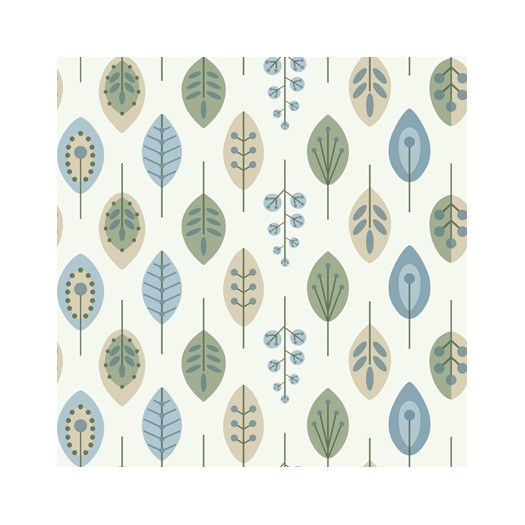 Bistro 750 33 X 20 5 Quot Retro Leaves Wallpaper Wallpaper