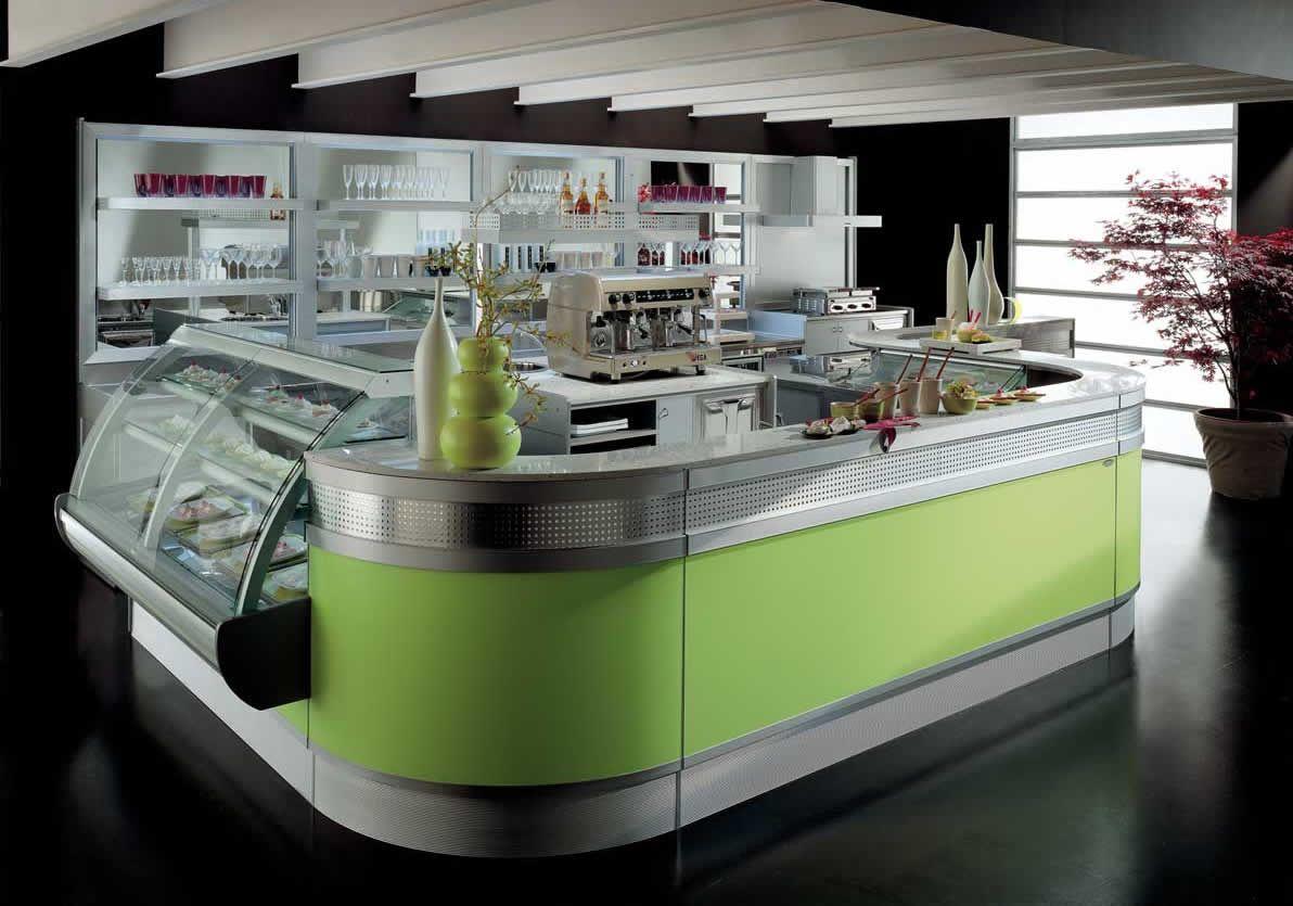 Banco Bar Linear Modello Di Arredo Bar Moderno Ed