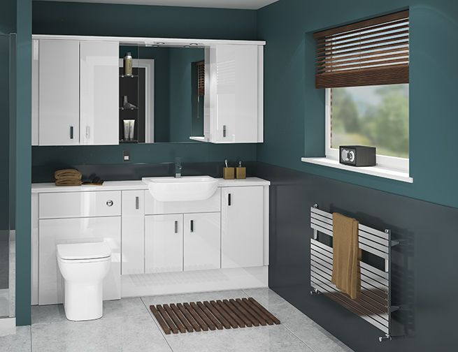 Try A Classic Look With Atlanta\'s White Gloss Bathroom Furniture ...
