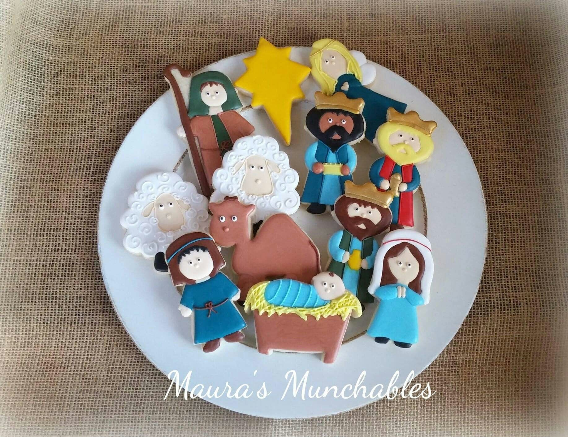 Christmas Decorated Nativity Cookies Cookies Gingerbread Cookies