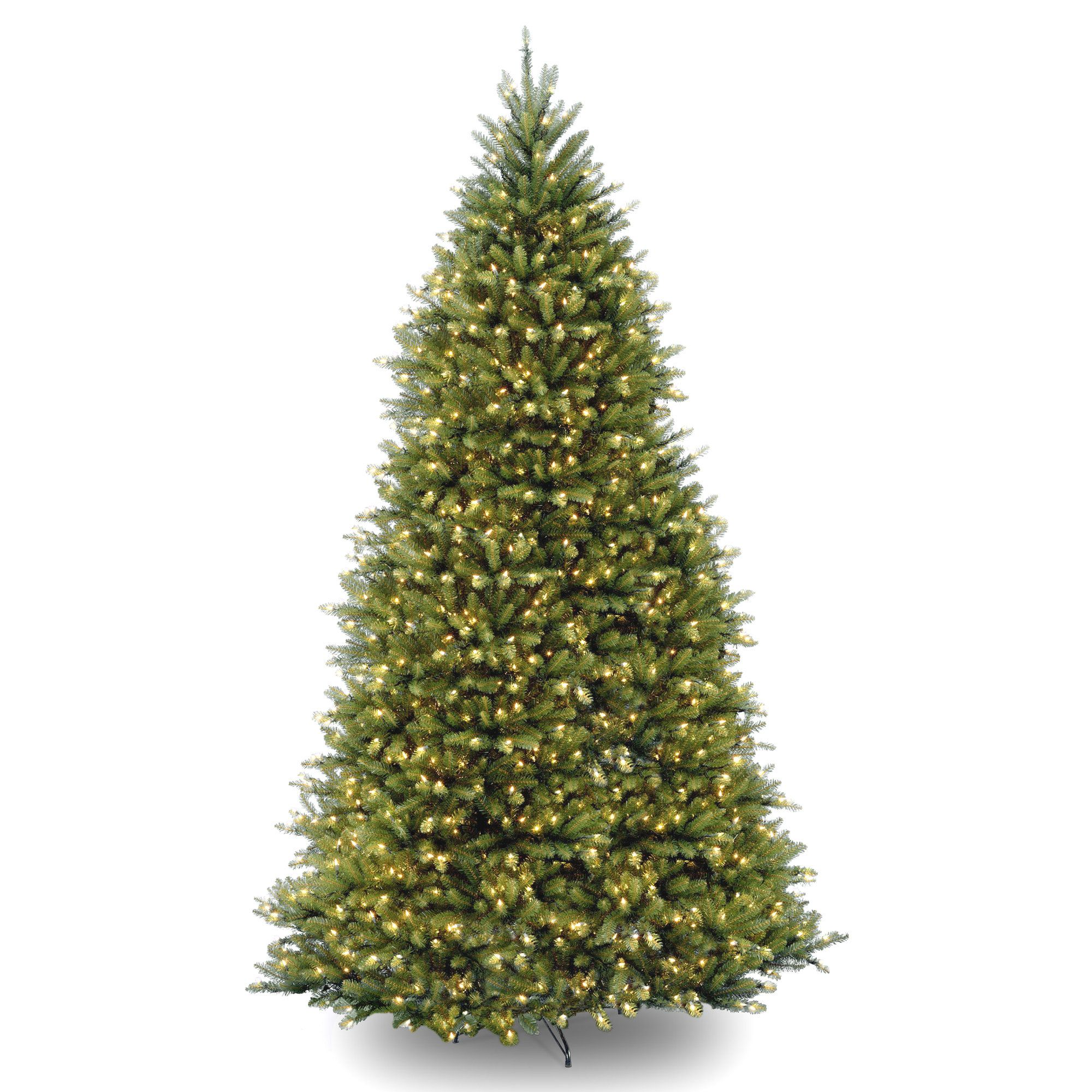 Pre Lit Christmas Tree Fuses: Fir 12' Hinged Green Artificial Christmas Tree With 1500