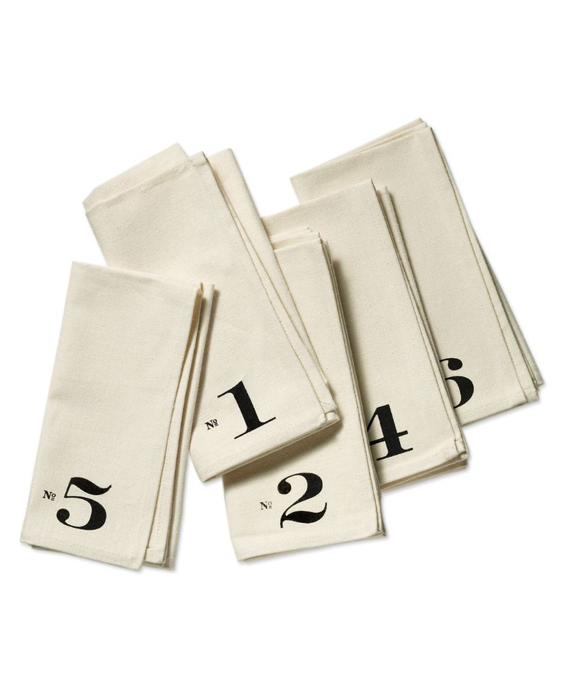 Numbered Edition Napkins, set of six by Heather Lins Home