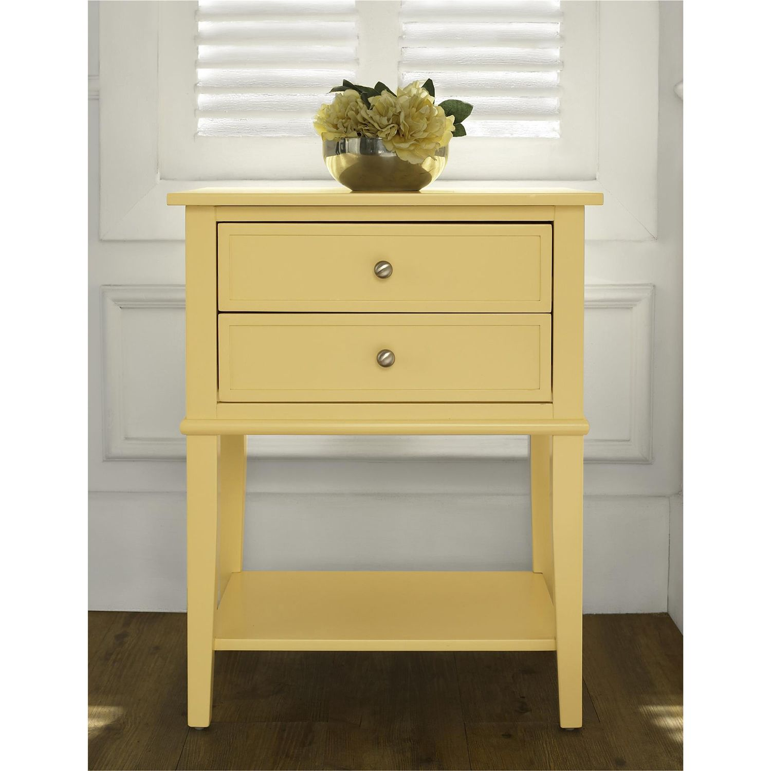 Cottage Hill Yellow 2 Drawer Accent Table In 2020 Wooden Side Table Accent Table Altra Furniture